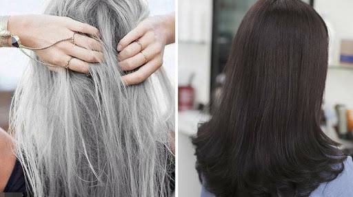 Bột lá móng nhuộm tóc đen hiệu quả